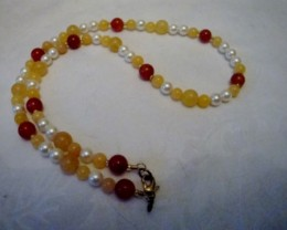 NEW - 18 INCH MULTI-GEMSTONE NECKLACE