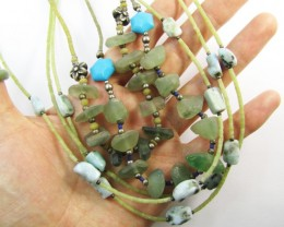 Trade deal 5 Fluroite n Gemstone Necklace   MJA 772