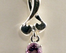 Sterling Silver Necklace & Amethyst Pendant (SSN-12