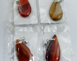 PARCEL FOUR MIXED DROP    AGATE PENDANTS   AAT33