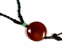 NEW TRIBAL TRADITIONAL ROUND   AGATE   NECKLACE    TR74