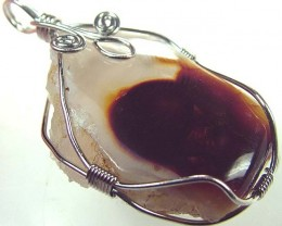 FIRE AGATE WIRE WRAPPED 49.15 CTS [GT424 ]