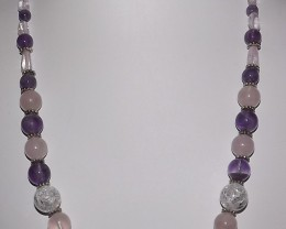 278.20 CTW MIXED GEMSTONE 20 INCH NECKLACE