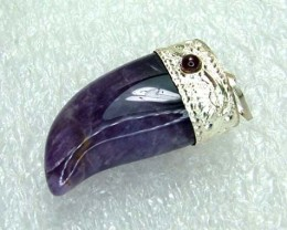 Lovely Natural Amethyst Stone Pendant JW65
