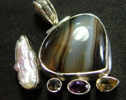 STUNNING AGATE PENDANT 62.00 CTS [GT829 ]