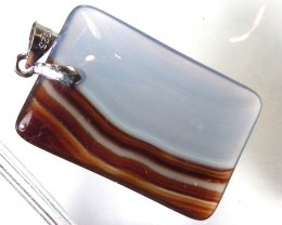 AGATE PENDANTS -SILVER  29.50 CTS  AS-A516