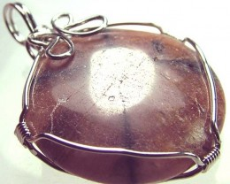 CHAISTOLITE 'CROSS STONE ' WIRE WRAPPED 57.15 CTS [GT401 ]
