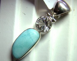 LARIMAR  PENDANT SILVER 59 CTS ADK-291