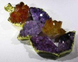 AMETHYST AND CITRINE PENDANT [SJ2973 ]