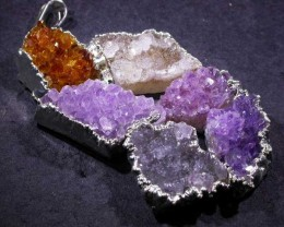 AMETHYST AND CITRINE PENDANT [SJ2974 ]