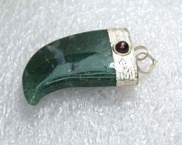 Lovely Natural Moss Agate Stone Pendant JW52
