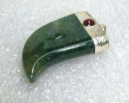 Lovely Natural Moss Agate Stone Pendant JW50