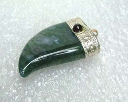 Lovely Natural Moss Agate Stone Pendant JW58