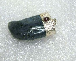 Lovely Natural Moss Agate Stone Pendant JW54