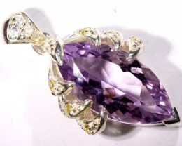 AMETHYST PENDANT  /SILVER 18.20 CTS  TBJ-532
