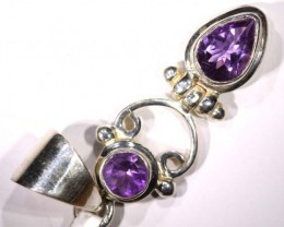 AMETHYST FACETED SILVER PENDANT - 35CTS  TBJ-5