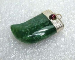 Lovely Natural Moss Agate Stone Pendant JW49