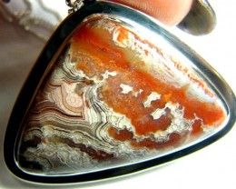 CRAZY LACE AGATE SILVER PENDANT  90 CTS SG-2080