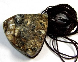 89 CTS DOUBLE ROUGH N SMOOTH   AGATE  PENDANT  GG 230