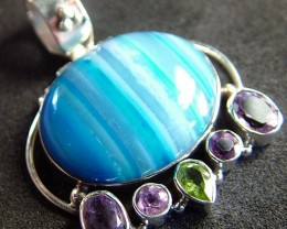 STUNNING LARGE AGATE PENDANT 60.00 CTS.  [GT801]