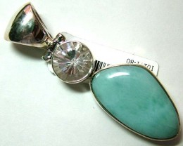 LARIMAR PENDANT SILVER JEWELRY 55 CTS  TBG-94