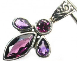 GEMSTONES PENDANT DIRECT FROM FACTORY SILVER 13.80CTS SJ1173