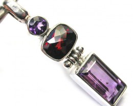 GEMSTONES PENDANT DIRECT FROM FACTORY SILVER 19.30CTS SJ1180