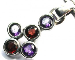 GEMSTONES PENDANT DIRECT FROM FACTORY SILVER 8.80 CTS SJ1188
