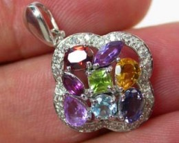 GEMSTONES PENDANT DIRECT FROM FACTORY -SILVER19 CTS [SJ100D]9