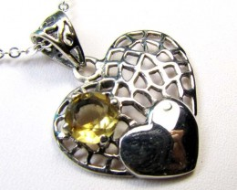 CITRINE SILVER PENDANT 17.85CTS MGMG 29