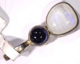IOLITE/MOONSTONE SILVER PENDANTS -16 CTS  TBJ-579