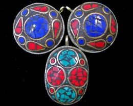 Parcel 3 Tribal Pendants for price  of one   MJA 380