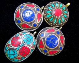 Parcel  four  Tribal Pendants  for price of one  MJA 384
