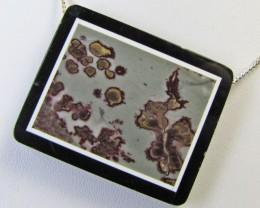 145 cts Jasper  Gemstone pendant  Intarsia design   MJA 464