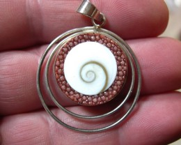 VERY NICE STERLING SILVER PENDANT WITH GALUCHAT