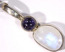 IOLITE/MOONSTONE SILVER PENDANTS -17 CTS  TBJ-578