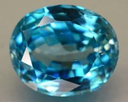 Gil Cert 6.64 ct Blue Zircon Cambodia SKU.6