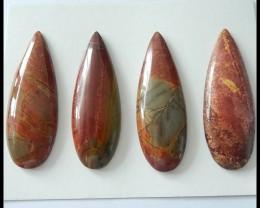 148.5CT Natural Multi Color Picasso Jasper 4 PCS Cabochons Pairs
