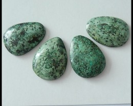 4 PCS Natural African Turquoise Cabochons,91.85ct