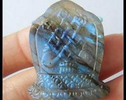 50Ct Natural Labradorite Gemstone Pendant Bead