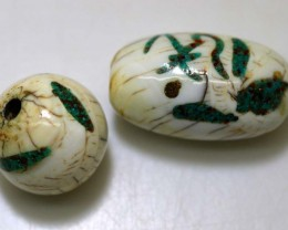 78.70 CTS CONCH SHELL BEADS PARCEL INLAY WORK NP-1846