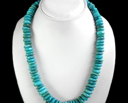 Natural Untreated Turquoise Beads Gemstone Necklace