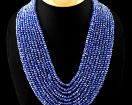 EXCLUSIVE - 10 Strand Genuine Tanzanite Necklace