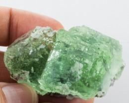 Fluorite Crystal Cube Twin Specimen