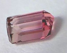 Very Pretty Hot Pink Emerald Cut Tourmaline, Brazil  VVS AP1606