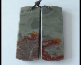 42.5Ct Natural Chohua Jasper Earring Beads