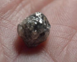 3.30ct 8.8mm Conflict free Natural Grey rough diamond