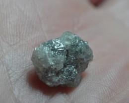6.77ct 12.4mm Conflict free Natural Grey rough diamond