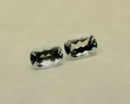 AQUAMARINE GEMSTONES CUSHION CUT PAIR