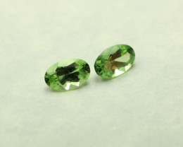 TOURMALINE  CHROME OVAL SHAPED PAIR